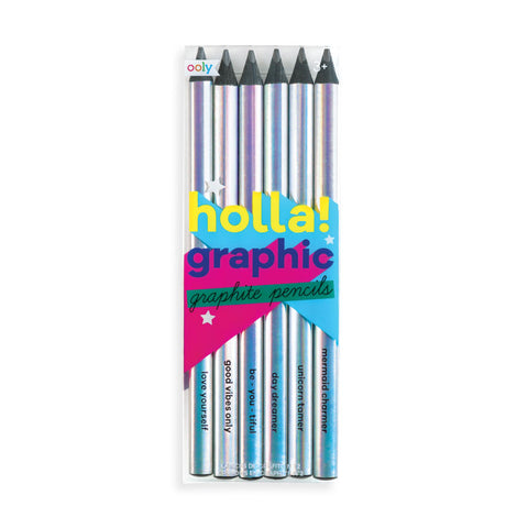 Holla! Graphic Graphite Pencil Set