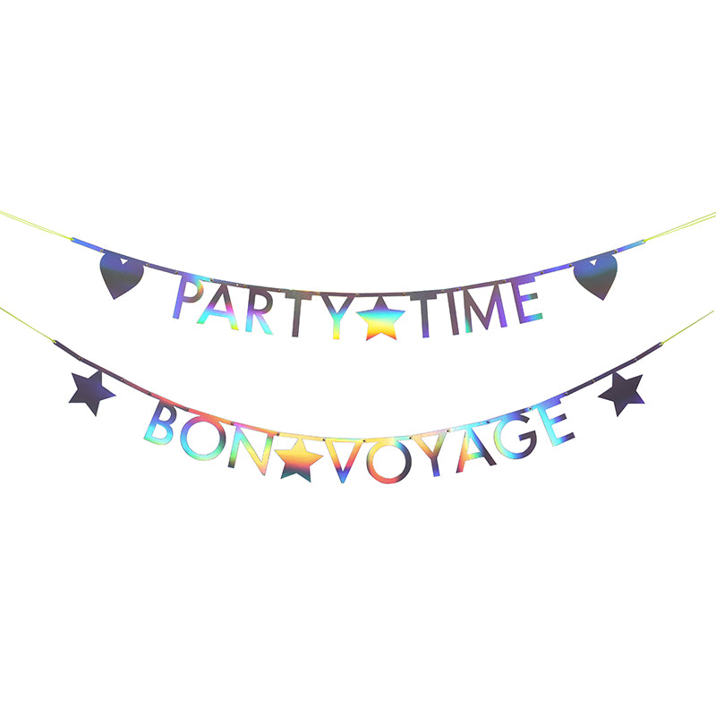 Holographic Silver Letter Garland Kit