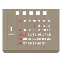 2020 House Flower Pink Desk Calendar
