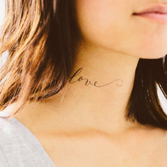 Just Love Temporary Tattoo (set of 2)