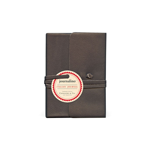 Charcoal Leather Journalino