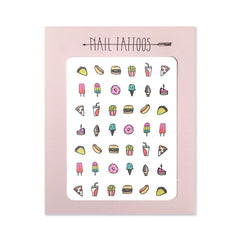 Junk Food Nail Tattoos
