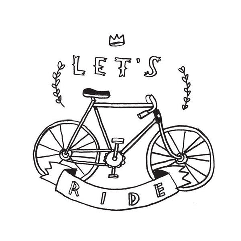 Let's Ride Temporary Tattoo (set of 2)