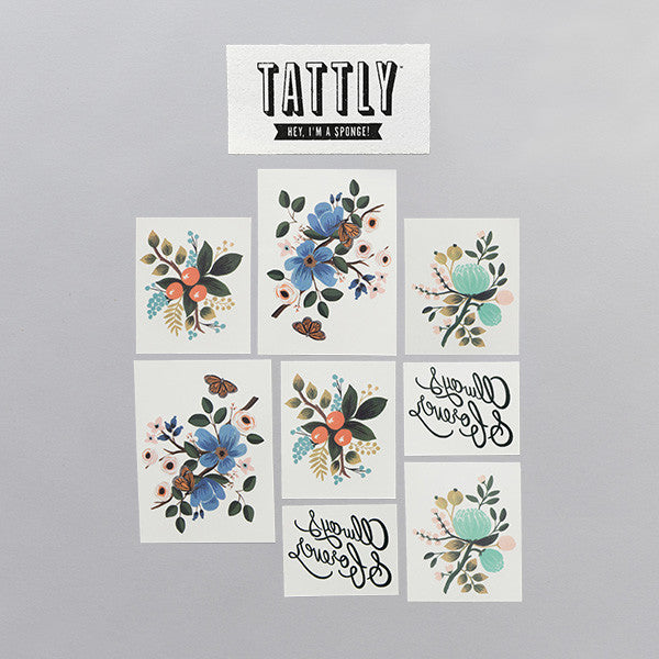 Lovely Temporary Tattoo Set (set of 8)