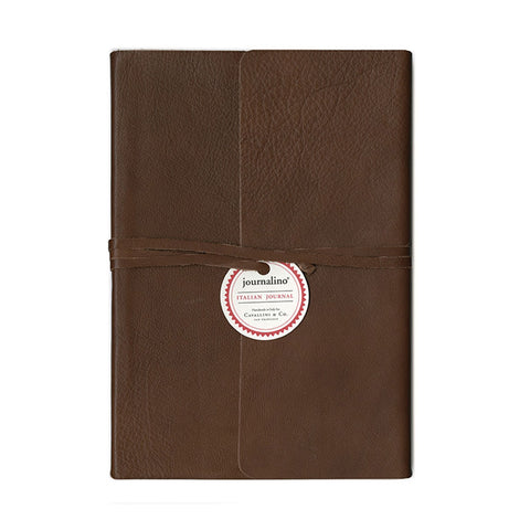 Slim Brown Leather Journalino