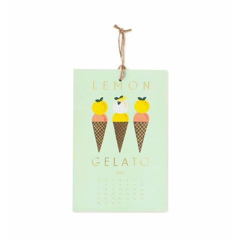 2019 Lemon Wall Calendar