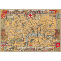 London Map Poster Wrap