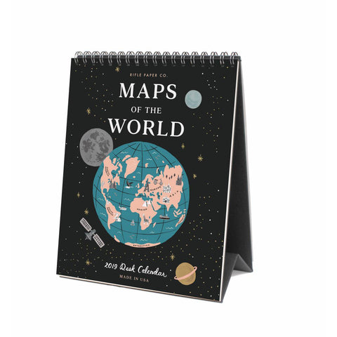 2019 Maps Of The World Desk Calendar