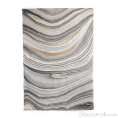 Thai Marbled Paper - Black/Gold/Silver