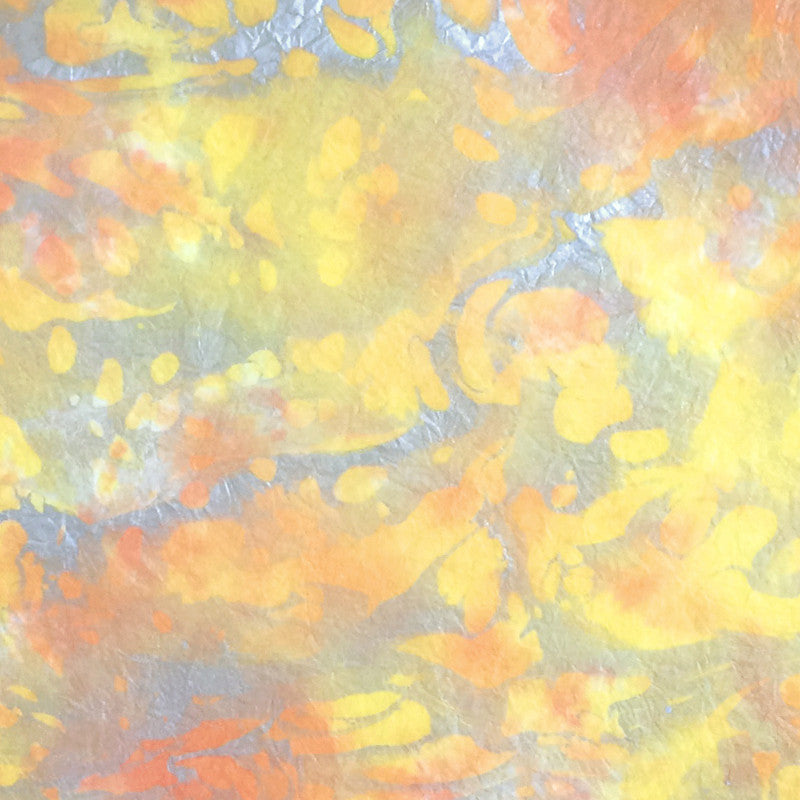 Thai Marbled Momi - Peach/Yellow/Silver