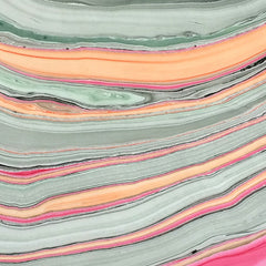 Thai Marbled Paper - Turquoise/Apricot/Raspberry