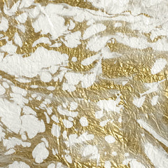 Thai Marbled Momi - White & Gold