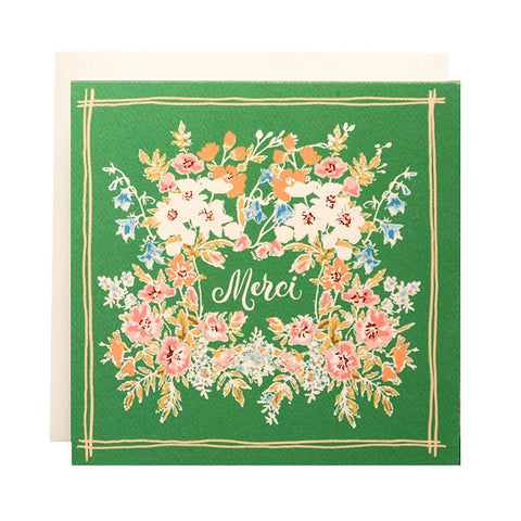Handkerchief Merci Single Card