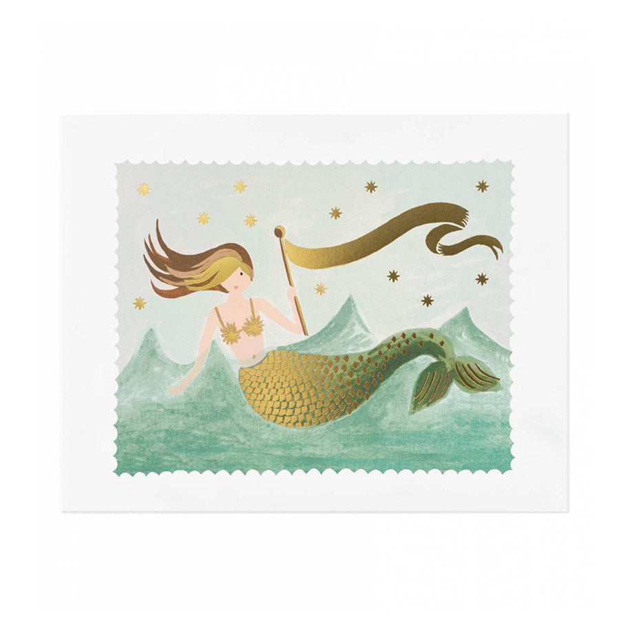 "Rifle Paper Co. Mermaid 8x10"" Print"