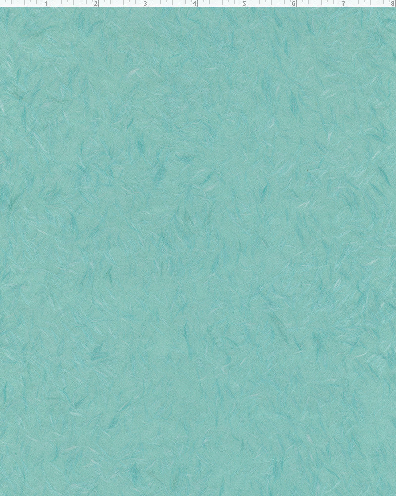 "Obonai Feather Turquoise - Sample 8.5"" x 11"""