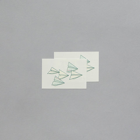 Paper Planes Temporary Tattoo (set of 2)