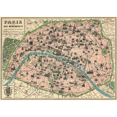 Paris Map Poster Wrap