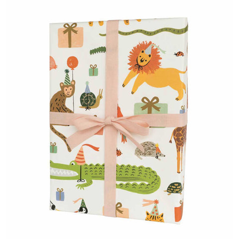 Party Animals Wrapping Sheets, Roll Of 3