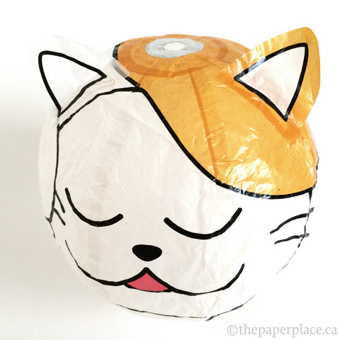 White Cat Paper Balloon