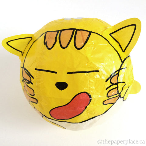 Yellow Cat Paper Balloon