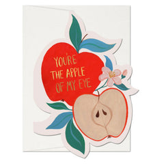 Apple Of My Eye Die Cut Single Card