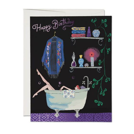 Bathtub Bubbles Single Card