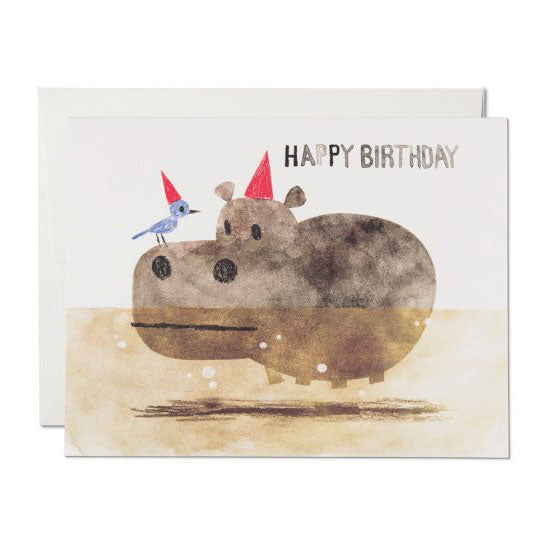 Bird & Hippo Single Card