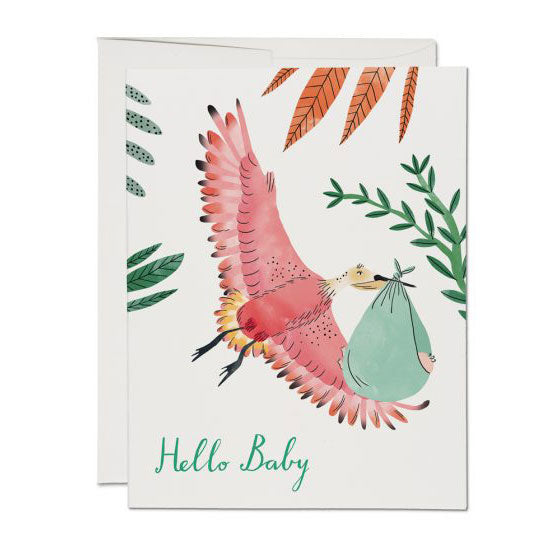 Bird with Baby Single Card
