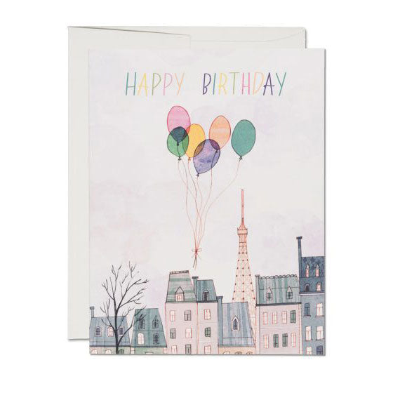 Paris Balloons Single Card