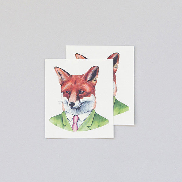 Red Fox Temporary Tattoo (set of 2)