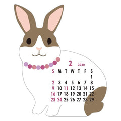 2020 Rabbit Die Cut Calendar