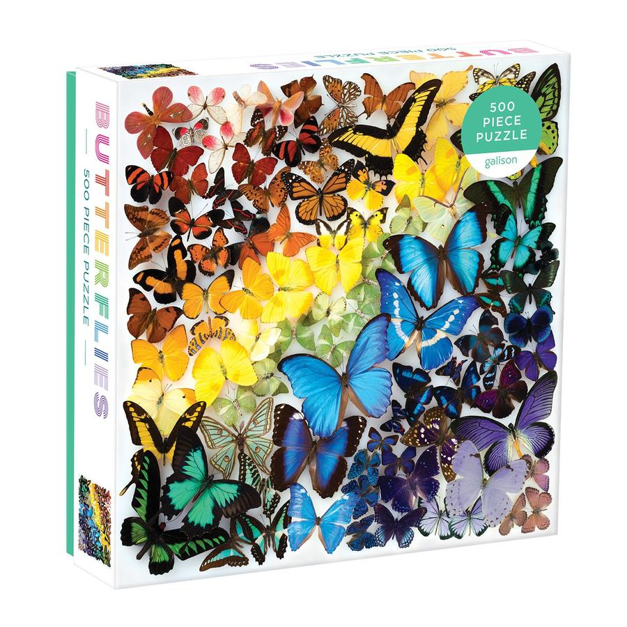 Rainbow Butterflies - 500 Piece Puzzle