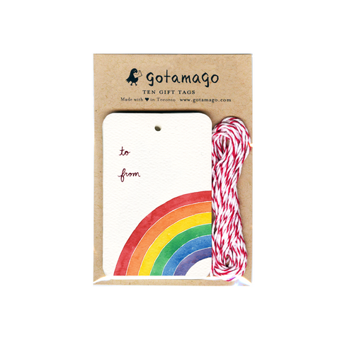 Rainbow Gift Tags - Set of 10