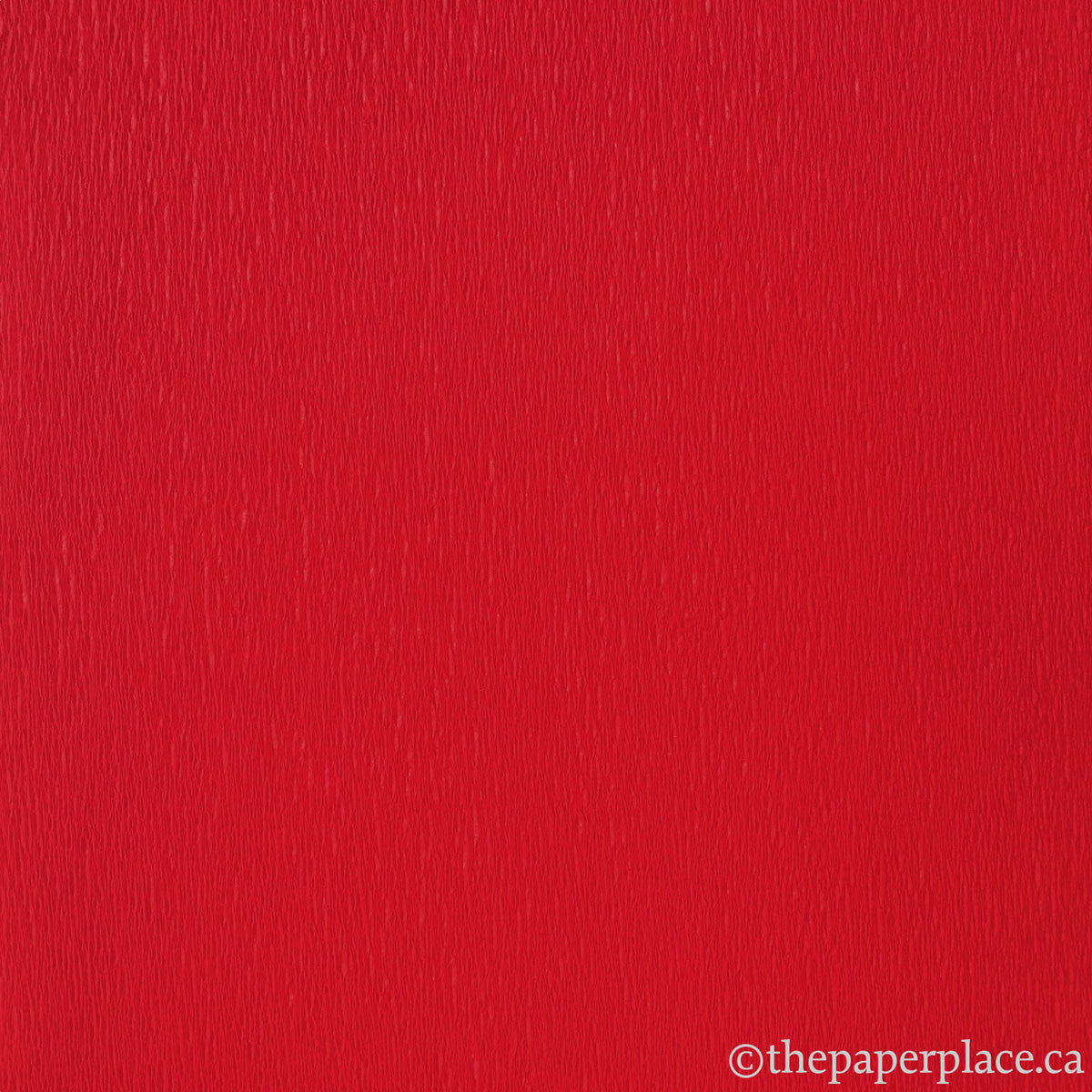 Single-Sided Crepe - Flame Red