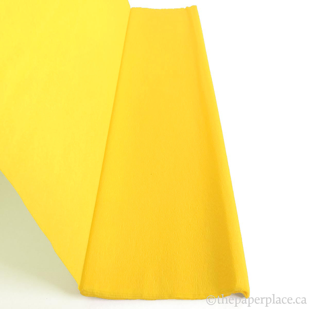 Single-Sided Crepe - Hot Yellow