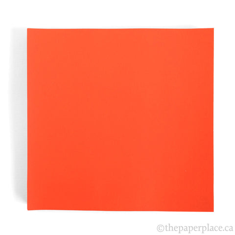 15cm Single Colour Dark Orange - 100 Sheets