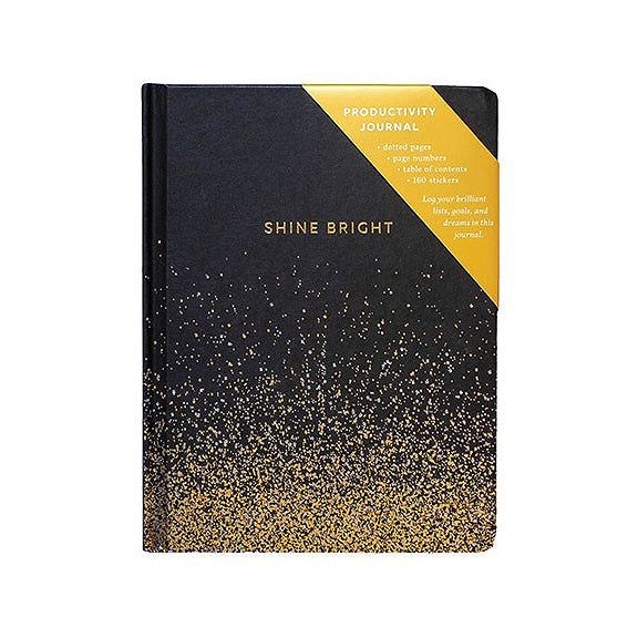 Shine Bright Productivity Journal - Black