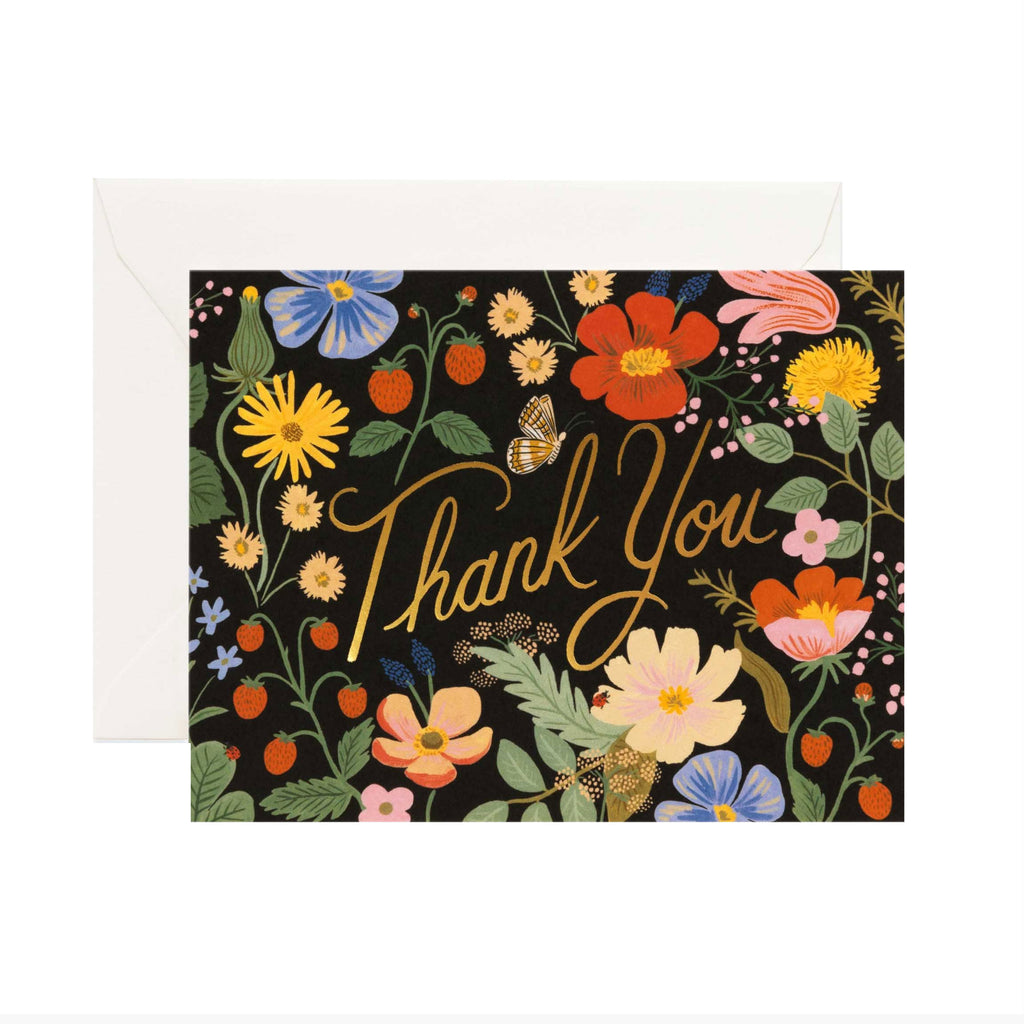 Strawberry Fields Boxed Thank You Cards