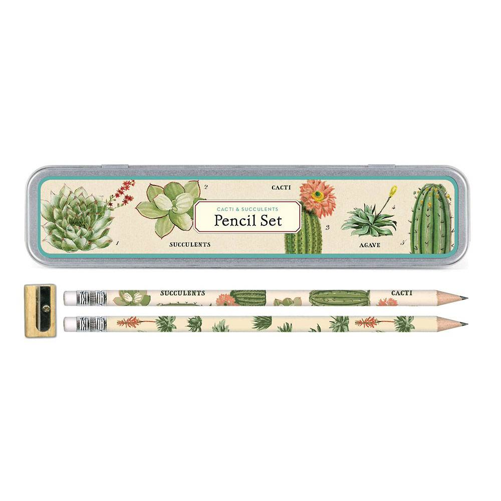 Succulents Pencil Set