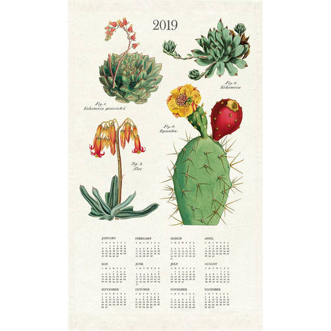 2019 Succulents Tea Towel Calendar
