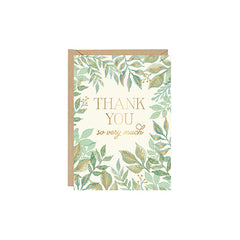 Watercolour Garden Thank You Single Card