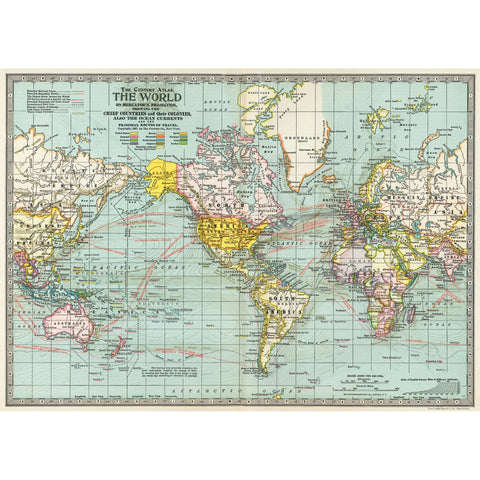 World Map No. 3 Poster Wrap