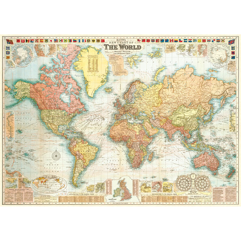 World Map No. 5 Poster Wrap