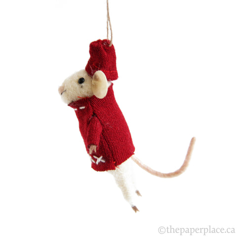 Yuletide Mouse Ornament - Holiday Sweater