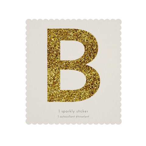 Gold Glitter Sticker - B