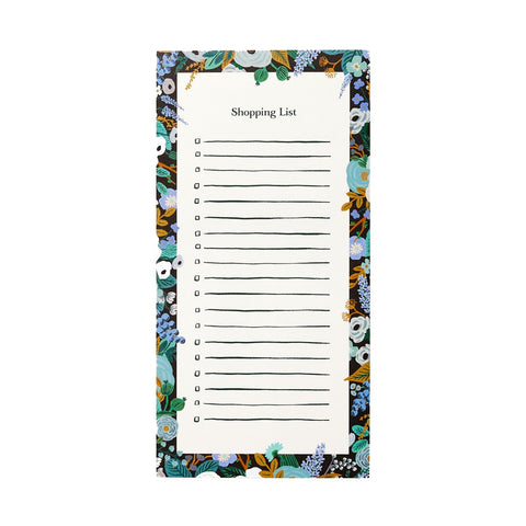 Rifle Paper Co. Garden Party Blue Magnetic To-Do Pad