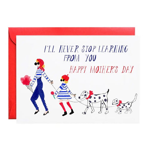 French Mommy Single Card
