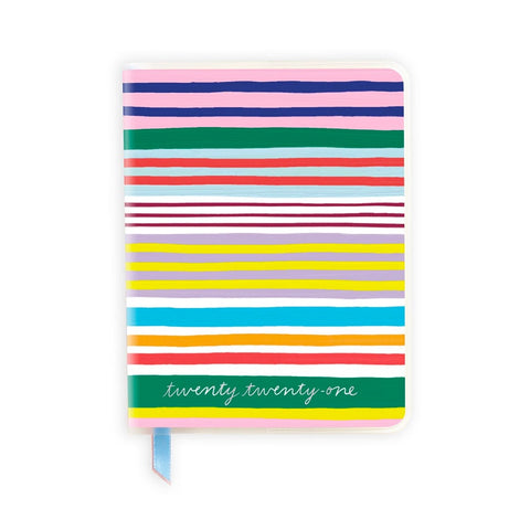 2021 Soft Laminate-Bold Stripe Planner