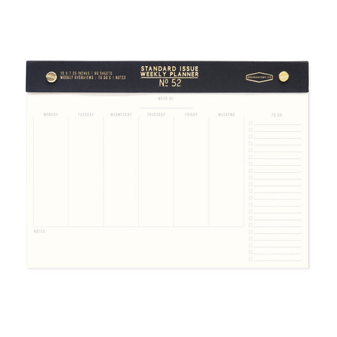 Standard Issue - Post Bound Weekly Planner Black