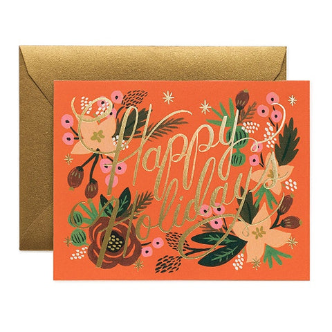 Poinsettia Holiday Boxed Cards